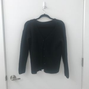 Sezane Sweaters - Sezane Barry Jumper Cardigan Sweater Black